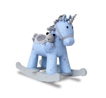 Jednorożec na Biegunach Moonbeam & Rae - Bujany Unicorn - Niebieski + 9 miesięcy - Little Bird Told Me