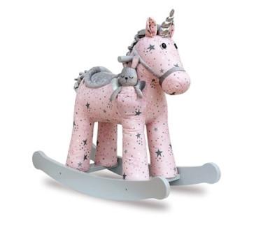 Duży Jednorożec na Biegunach Celeste Fae - Bujany Unicorn - Różowy + 12 miesięcy - Little Bird Told Me