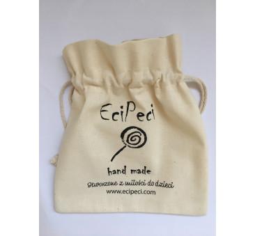 Kremowy Woreczek Etui na Słuchawki Wygłuszające EciPeci