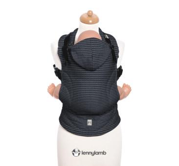 Moje pierwsze nosidełko ergonomiczne - GALAKSYT, splot tessera , Baby size, Druga Generacja - LennyLamb