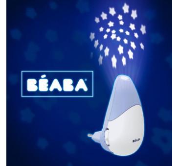 Lampka nocna LED z projektorem gwiazd i czujnikiem płaczu i ruchu Pixie Star Mineral - Beaba