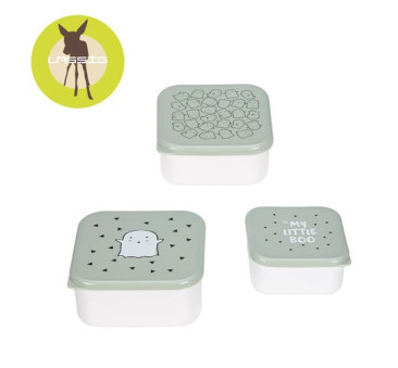 Snackbox Little Spookies - Olive 3 szt. - Lassig