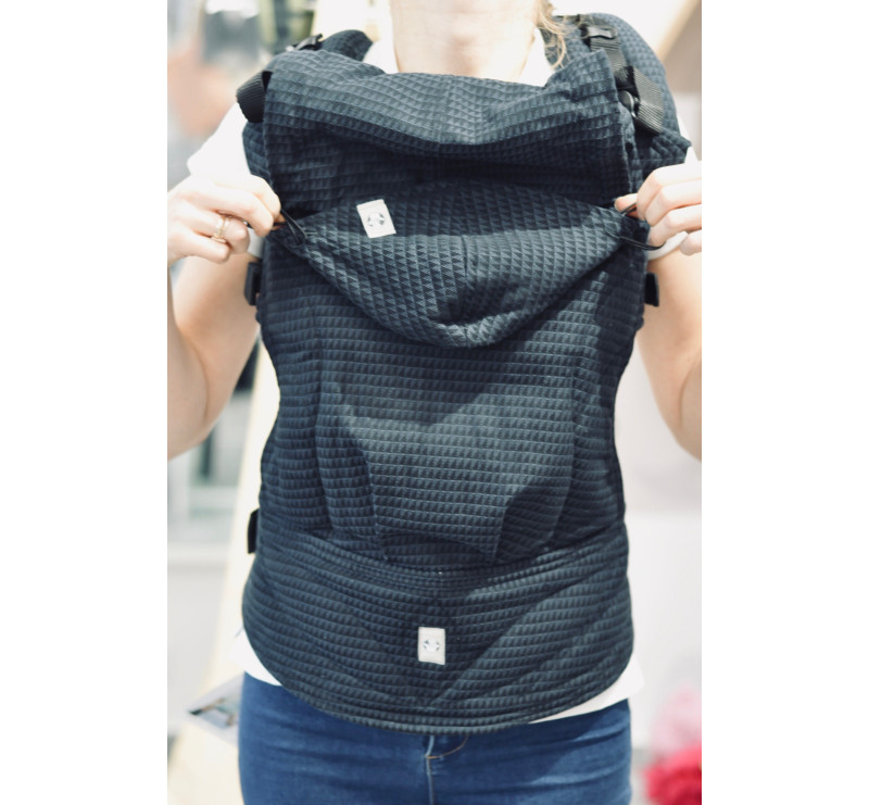 Moje pierwsze nosidełko ergonomiczne - ONYKS, splot tessera , Baby size, Druga Generacja - LennyLamb