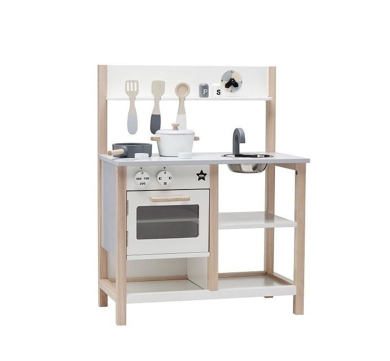 Kids Concept - Kuchnia Drewniana - Biała - Montessori
