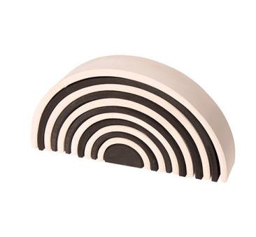 Czarno-biały tunel - kolekcja naturalna 0+ tęcza - Grimm's Grimms - Zabawka drewniana - Montessori