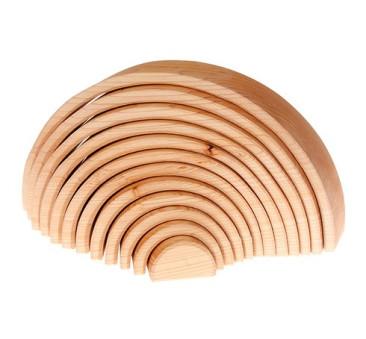 Drewniany tunel - kolekcja naturalna 0+ tęcza - Grimm's Grimms - Zabawka drewniana - Montessori