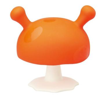 Gryzak Uspokajający Grzybek - Pomarańczowy - Mombella Mushroom