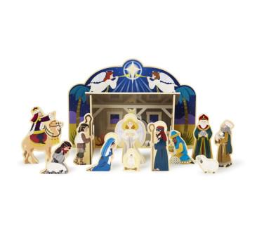 Drewniane Przestrzenna Szopka Bożonarodzeniowa - Melissa & Doug - Montessori