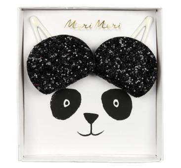 Spinki do włosów Panda - Meri Meri