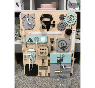 Duża tablica manipulacyjna edukacyjna sensoryczna Montessori - Woobiboo