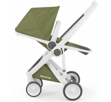 Wózek Greentom Upp Reversible - white - olive/ biało - oliwkowy