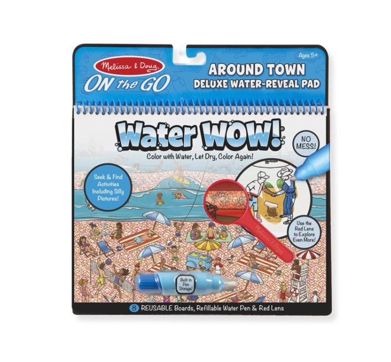Miasto - Malowanie wodą - Water Wow! Deluxe - znikające kolory z lupą - kolorowanka wodna Around Town - Melissa & Doug