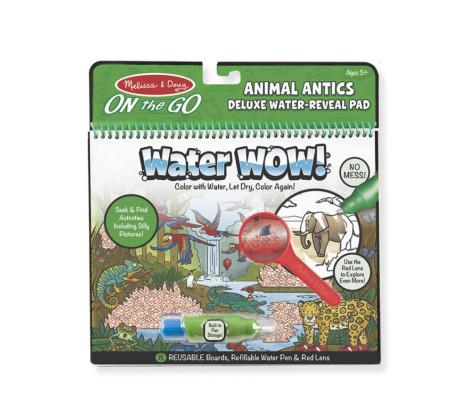 Wybryki Zwierząt - Malowanie wodą - Water Wow! Deluxe - znikające kolory z lupą - kolorowanka wodna Animal Antics - Melissa & Do