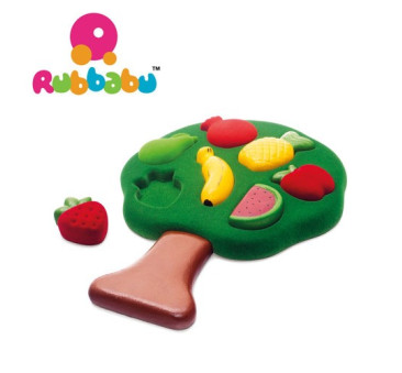 Sensoryczny Sorter Puzzle 3D - Owoce - Rubbabu