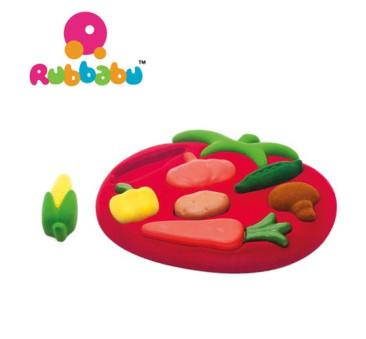 Sensoryczny Sorter Puzzle 3D - Warzywa - Rubbabu