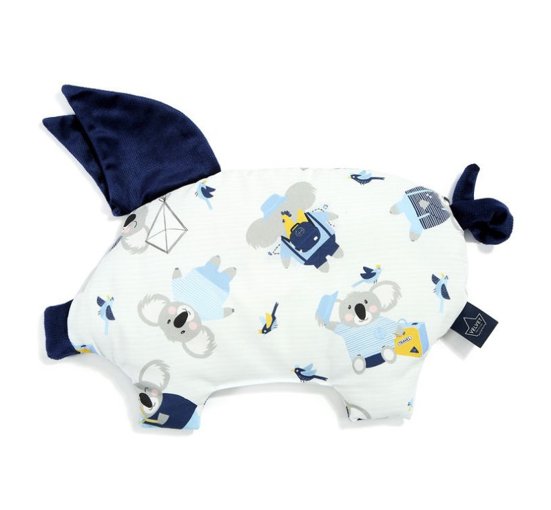 Podusia Sleepy Pig - Hello World - Royal Navy - La Millou - Velvet Collection