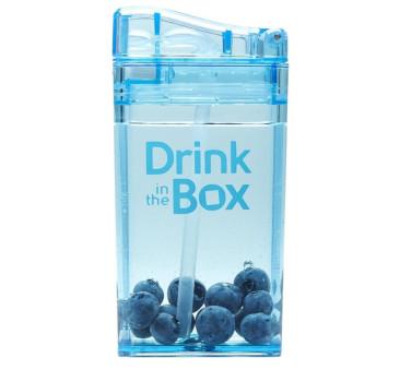 Bidon Ze Słomką Blue 235 ml niebieski Drink In The Box