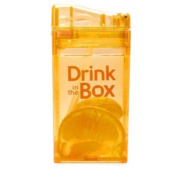 Bidon Ze Słomką Orange 235 ml pomarańczowy Drink In The Box