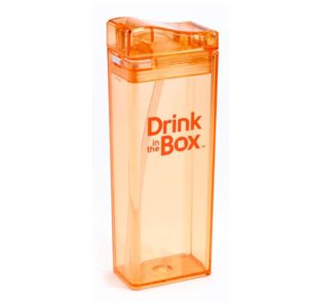Bidon Ze Słomką Orange 355 ml pomarańczowy Drink In The Box