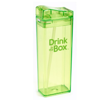 Bidon Ze Słomką Green 355 ml zielony Drink In The Box