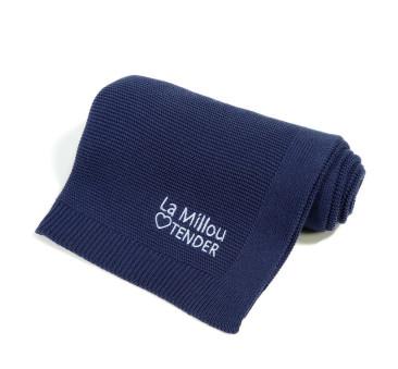 Cotton Tender Blanket - Royal Navy - La Millou