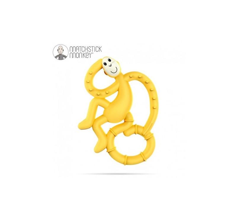 Gryzak Dentystyczny Małpka Mini - Yellow - Matchstick Monkey