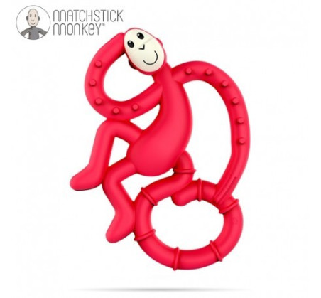 Gryzak Dentystyczny Małpka Mini - Red - Matchstick Monkey