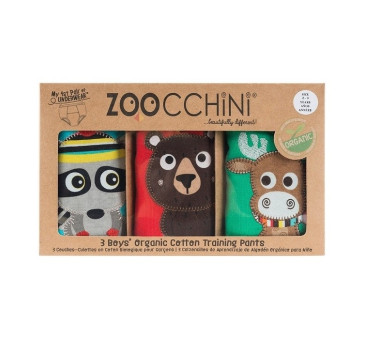 Majtki treningowe - Forest 3pack - 2-3 lata - Zoocchini