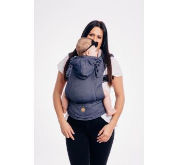 Moje drugie nosidełko ergonomiczne LennyGo - JEANS, splot tessera , Toddler size - LennyLamb