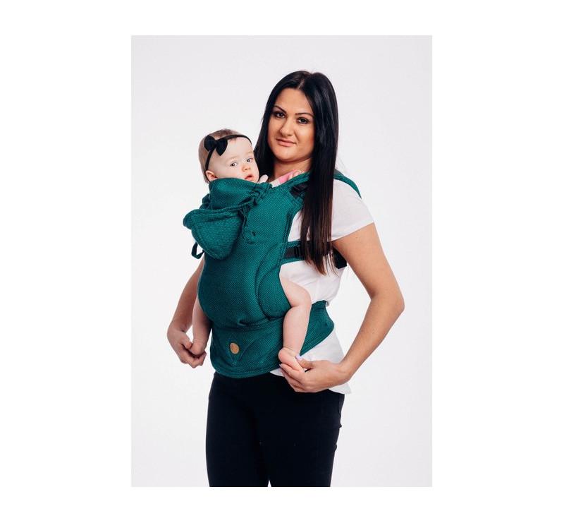 Moje drugie nosidełko ergonomiczne LennyGo - SZMARAGD, splot jodełkowy, Toddler size - LennyLamb