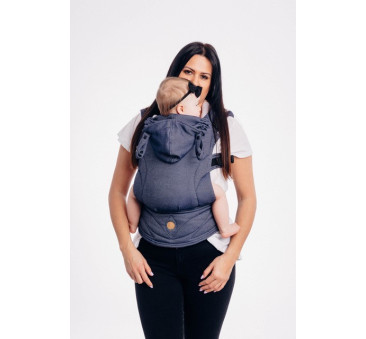 Moje pierwsze nosidełko ergonomiczne LennyGo - JEANS, splot satynowy, Toddler size - LennyLamb