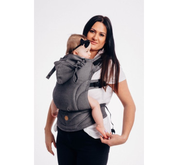 LennyGo GRAFIT - Moje pierwsze nosidełko ergonomiczne - splot jodełkowy, Baby size - LennyLamb