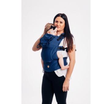 Moje pierwsze nosidełko ergonomiczne LennyGo - KOBALT, splot jodełkowy, Baby size - LennyLamb