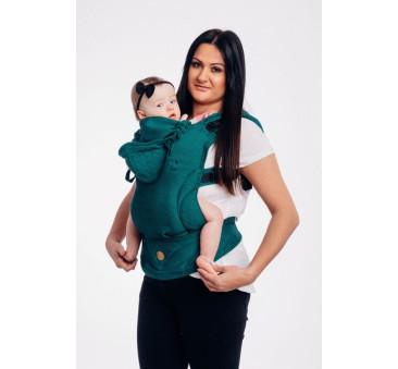 Moje pierwsze nosidełko ergonomiczne LennyGo - SZMARAGD, splot jodełkowy, Baby size - LennyLamb