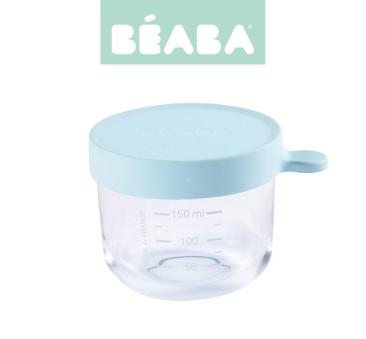 Pojemnik Szklany z Hermetycznym Zamknięciem 150 ml - Light Blue - Beaba