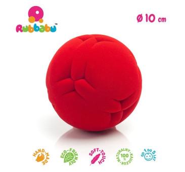 Sensoryczna piłka wycinanki - czerwona - Rubbabu