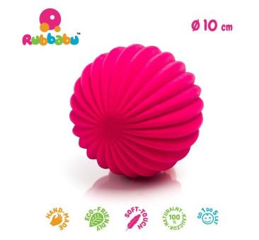 Sensoryczna piłka paski - różowa - Rubbabu
