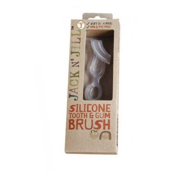 JACK N'JILL -silikonowa szczoteczka do masażu dziąseł i mycia zębów, 2-6 lata
