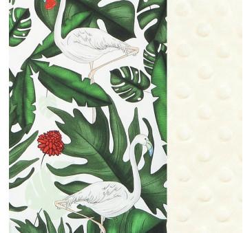 Wkładka do wózka - Thick Stroller Pad - Evergreen Tiger - Ecru - La Millou - Velvet Collection