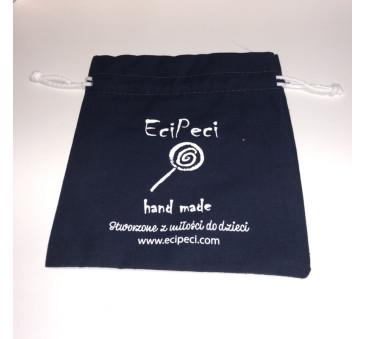 Woreczek Etui na Słuchawki Wygłuszające EciPeci - Granatowy