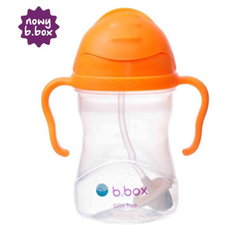 Nowy Pomarańczowy Innowacyjny Bidon Niekapek - B.BOX