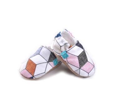 Pink Diamond Skórzana Podeszwa - rozmiar 0-3 msc - Papcie Titot