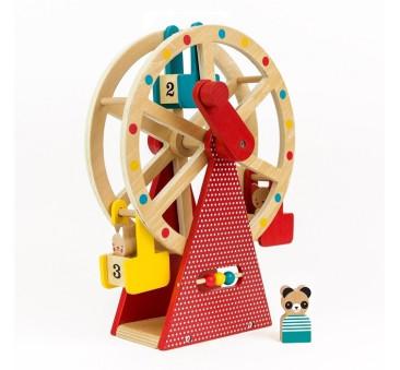 Diabelski Młyn Drewniany - Petit Collage - Montessori