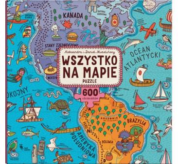 Wszystko na mapie. Puzzle - Mapy Mizielińscy - Dwie Siostry