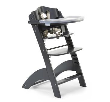 Lambda 3 - antracyt - Krzesełko drewniane do karmienia dla niemowląt - Childhome