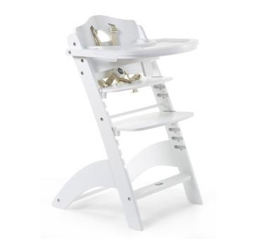 Lambda 3 - Białe - Krzesełko drewniane do karmienia dla niemowląt - White - Childhome