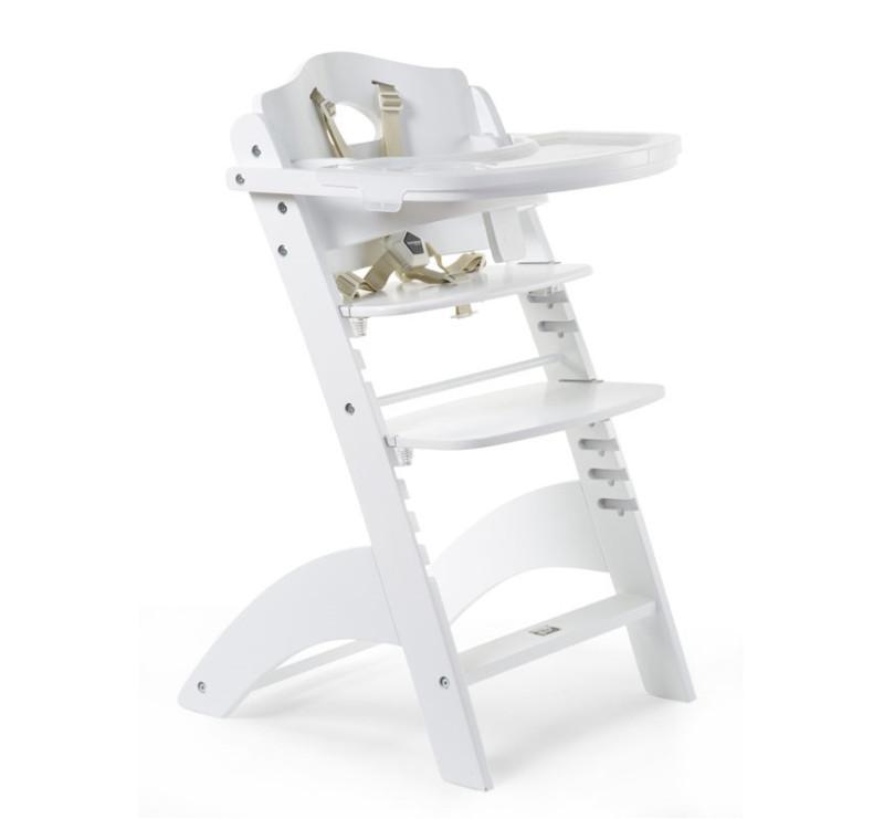 Wybitny Lambda 3 - Białe - Krzesełko drewniane do karmienia dla niemowląt XD07