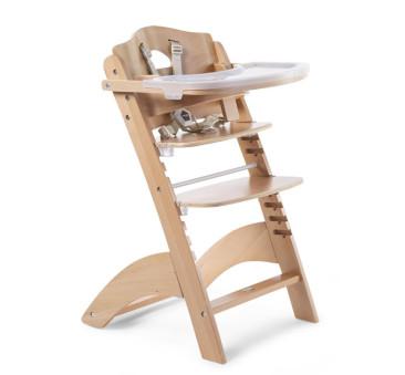 Lambda 3 - Naturalne - Krzesełko drewniane do karmienia dla niemowląt - Natural - Childhome