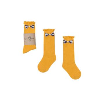 Podkolanówki 1-3 lata - Żółta Księżniczka - Mamas Feet - Mama's Feet