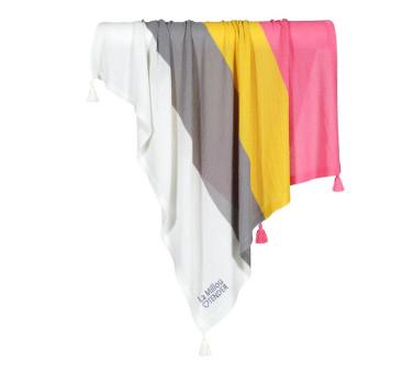Kocyk Dzianinowy Waffle - Rainbow Kiss - Bamboo Tender Blanket - 85x85cm - La Millou